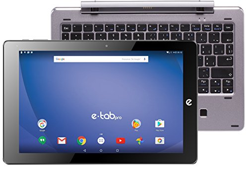 'e-tab bpl64aek/S Tablet PC, Pantalla LCD/LED de 10.1 (Intel Atom z8350, RAM 4 GB, Plata