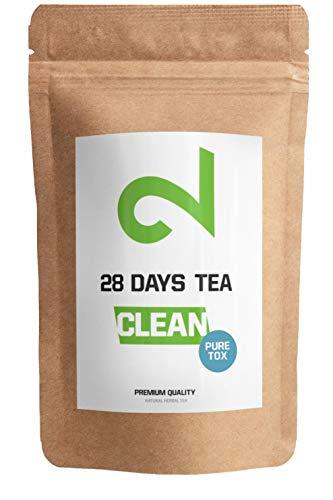 🍵DUAL 28 Days Detox Tea Para Pérdida de Peso | Té Adelgazante y Purificador | Infusión de Dieta Para Pérdida de Grasa | Suplemento Quemagrasa Natural | Té de hojas sueltas | Hecho en Alemania | 85 g