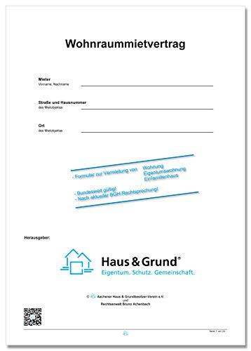 Mietvertrag für Wohnungen, Eigentumswohnungen und Einfamilienhäuser; Wohnraummietvertrag (11/2019)