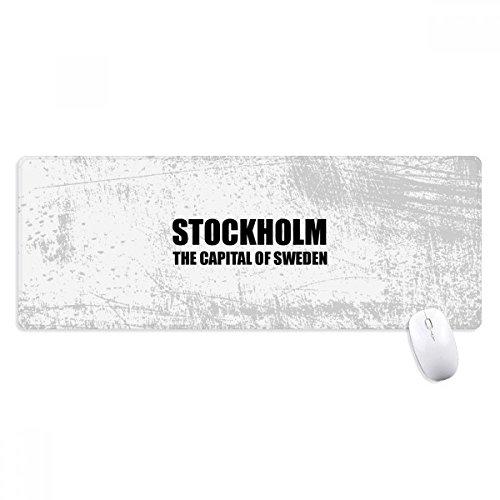 Stockholm Sveriges huvudstad halkfri musmatta stor utökad spel kontor sydda kanter datormatta gåva