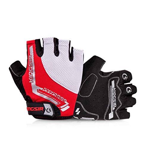 Guanti da ciclismo unisex a dito corto con dita corte, guanto senza dita traspirante antiurto antiurto, guanti da bici antiscivolo