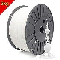 RepRapper 3kg ホワイト PLA 3Dプリンターフィラメント 1.75mm + ノズル洗浄針