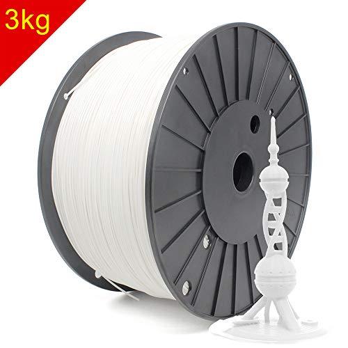 Reprapper White PLA Filament for 3D Printer & 3D Pen 1.75mm (± 0.03mm) 6.6lb (3kg)