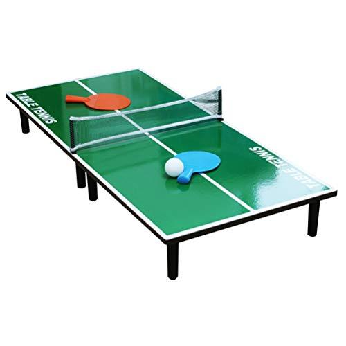 Ourine Portátil Mini Ping Pong Mesa de Tenis Conjunto de Mesa de Madera Juguetes Educativos Mini Tenis Mesa de Entrenamiento Herramienta de los Niños Regalo