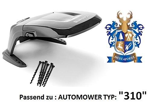 Original . Automower Abdeckung / passend zu Automower 310 / incl. Bodenschrauben