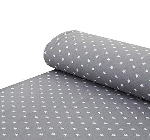 Confeccionado en tejido polar alpino con estrellas, color rojo, gris y negro, se vende por metros a partir de 25 x 150 cm, tela para coser