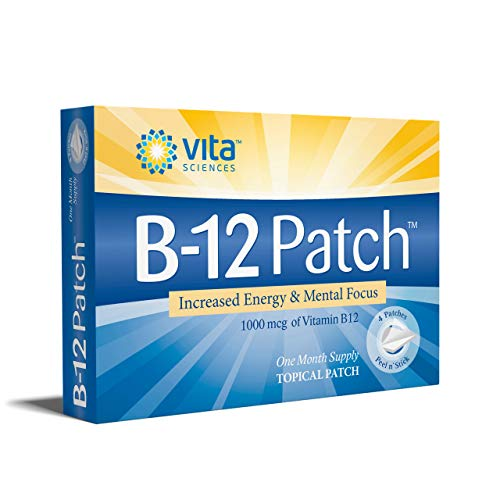 Vitamin B12 Patch | Extra Strength B12 Topical Patches | Men/Women | Boost Energy, Focus, Memory & Metabolism 1 Month Supply | Vita Sciences Powerful B-12 Patch