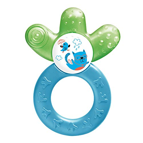 MAM Cooler Teether, Teething Toy for Babies, Cooling and Soothing Teething Ring, Baby Teether with Unique Shape and Ergonomic Design, Blue