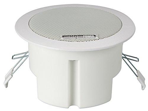 """Sound Products 147075 Velleman 4\"""" Deckenlautsprecher Breitband, Runde Ausführung, 100 V, 8Ohm, 135 mm Durchmesser x 81 mm Höhe"""
