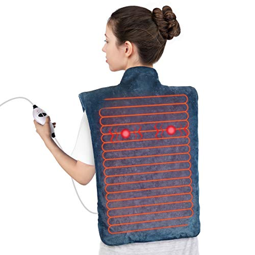 Electric Heating Pad for Back Pain and Cramps Relief, Ultra soft heating pad for Muscle Cramps – Heated Pad with Adjustable Temperature Settings Safe Auto Shut (2020 winter Latest Upgrade)
