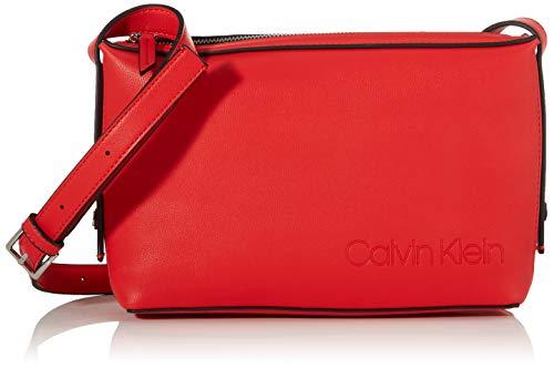 Calvin Klein Damen Attached Ew Xbody Umhängetasche, Rot (Process Red), 18x29x7cm