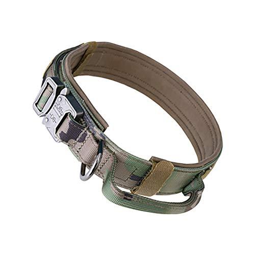AGN Ausgezeichnete Elite Spanker Taktische Hundehalsband Military Training Nylon verstellbare Hundehalsband mit Steuergriff-Camouflage