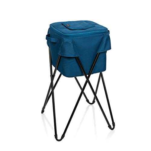 Navy Blue a Picnic Time brand Auburn Tigers Rolling Cart Cooler, ONIVA