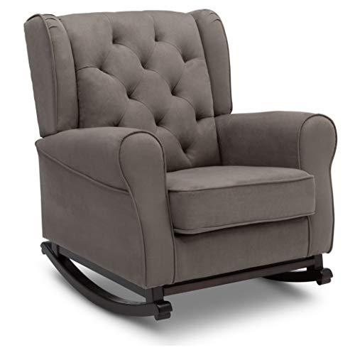 Delta Children Emma Upholstered Rocking Chair, Graphite