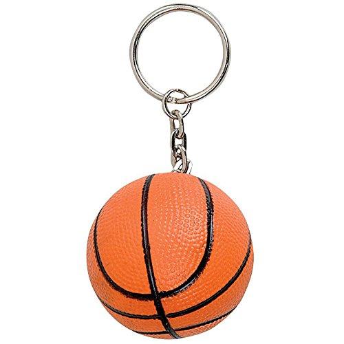 Ballon Basket Rouge Porte Clé Mousse
