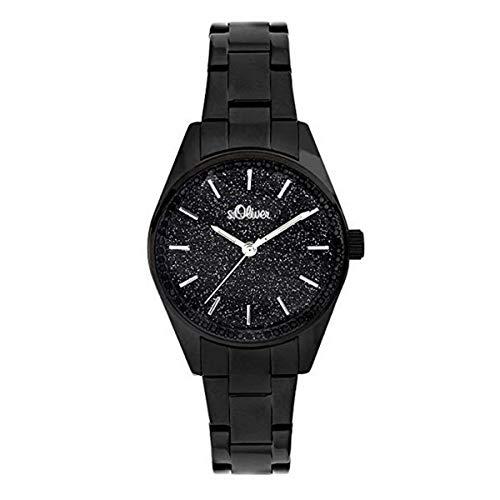 s.Oliver Damen-Armbanduhr Analog Quarz Edelstahl SO-3676-MQ