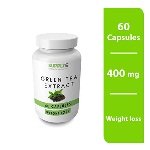 Supply6 Green Tea Extract Capsules – 400mg, 60 Capsules