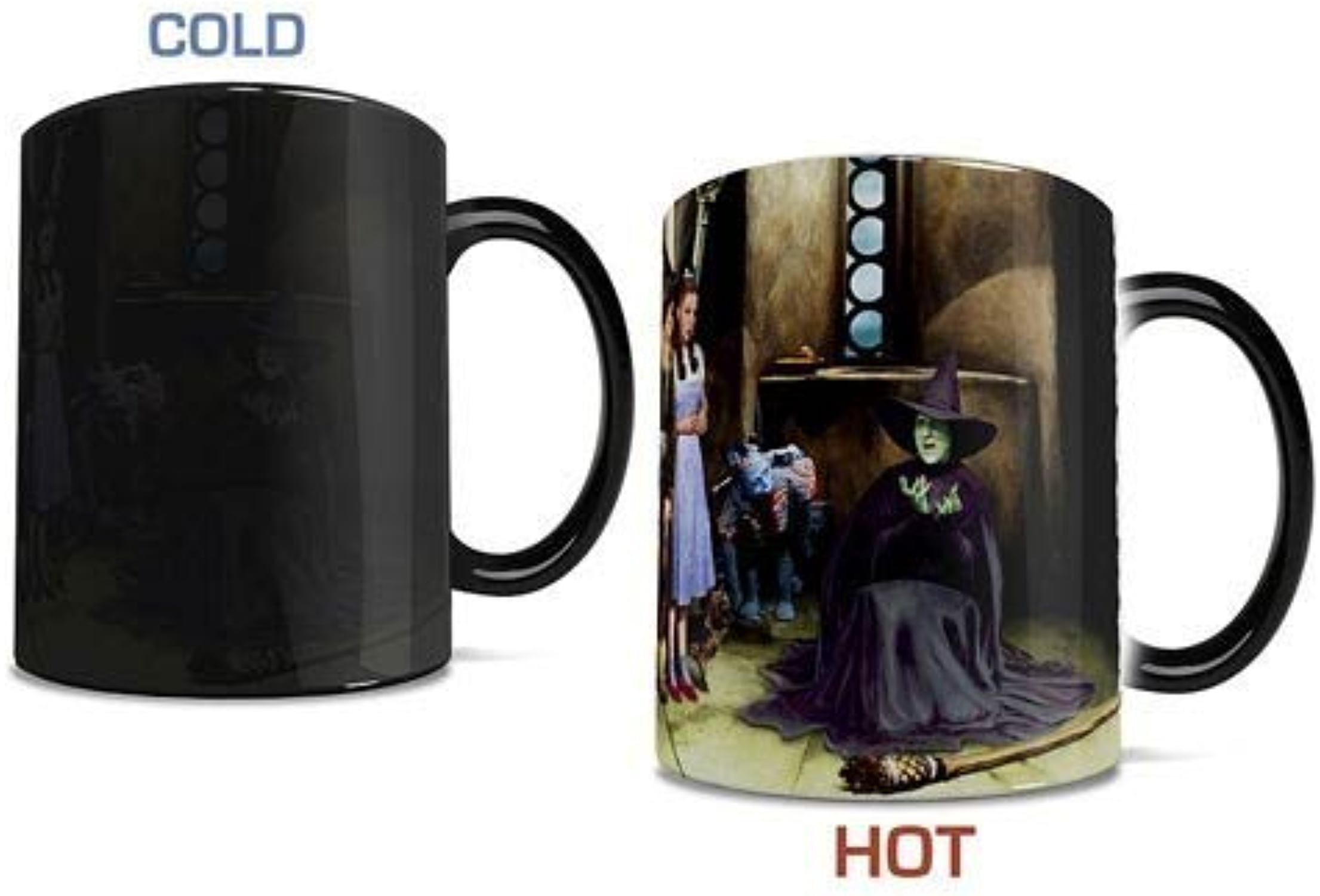 Morphing Mug Wizard of Oz 75th Anniversary (Melting Witch) Ceramic Mug, noir by Morphing Mug
