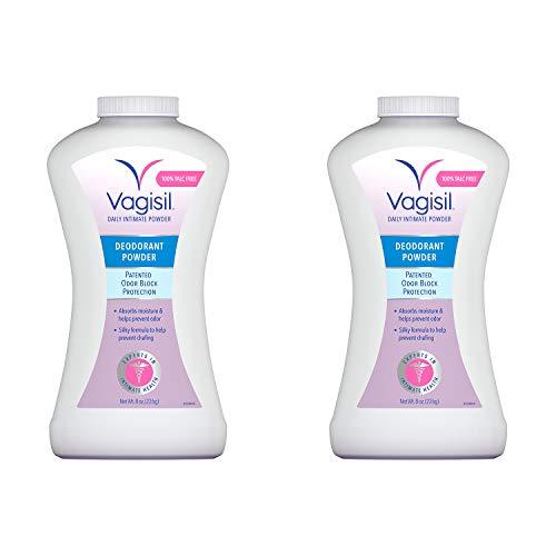 Vagisil Odor Block Deodorant Powder, Talc-Free, 8 Ounce - 2 Pack