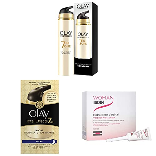 Olay Total Effects 7 en 1 Hidratante Anti-Edad + 7 en 1 crema de noche hidratante reafirmante + Hidratante Vaginal