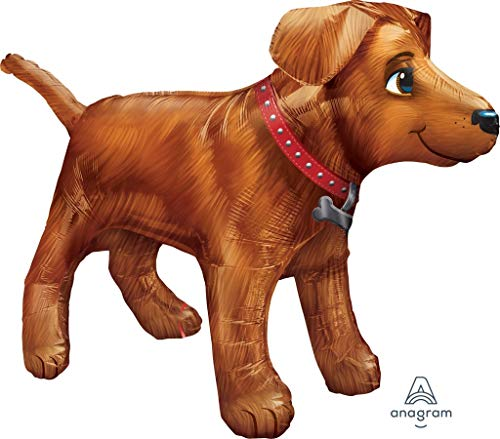 amscan 3123401 36 x 24 Golden Dog, Ultra Form Folie Ballons