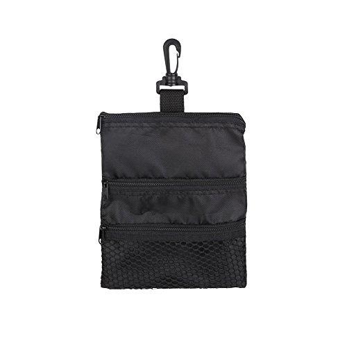 Dwawoo Golf Aufbewahrungstasche, Golfball Reißverschluss Handtasche Oxford Golf Holder Pack Golfzubehör