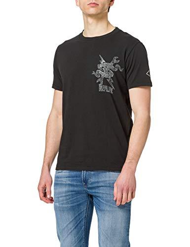 REPLAY M3384B Camiseta, 099 Blackboard, M para Hombre