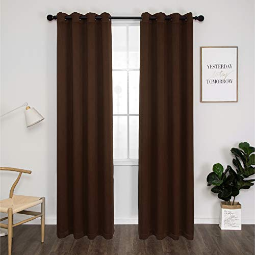 Thermal 100% Blackout Grommet Curtain for Room,Double-Layer Multi-Function...