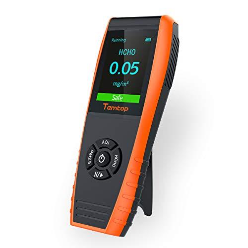 【No para CO2】Temtop LKC-1000E Monitor Profesional del Detector de Calidad del Aire, con Pruebas Precisas PM2.5 / PM10 /Medidor de Partículas/HCHO/AQI Tester