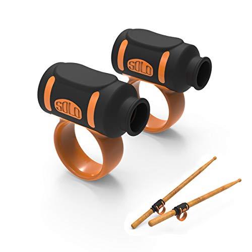 Drumsticks Zubehör, Easy Stick Twirl, Grip oder Control Clips, gut für Anfänger Drummer (#5) (Schwarz-Orange)