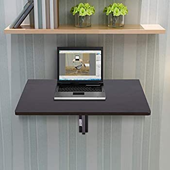 Wall-Mounted Table Drop Leaf Wall Mounted Table Space-Saving Hanging Table Small Wooden Desk for Home Office Multi-Function Floating Shelf for Bedroom Kitchen 23.6x15.7x12.6 inches  Coffee