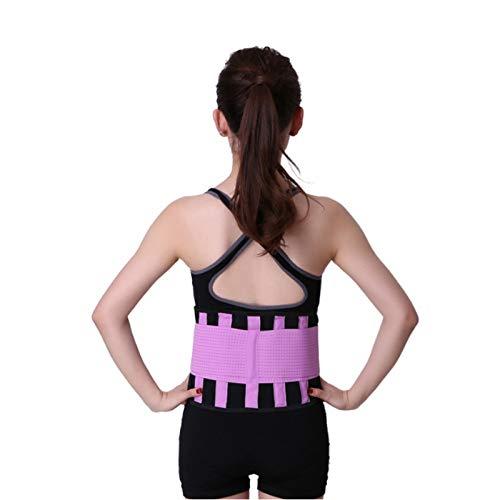WJH Heren en Vrouwen Neopreen Lumbar Taille Ondersteuning Unisex Oefening Gewichtsverlies Verbrand Shaper Gym Fitness Belt, Grootte: XL(Rose)