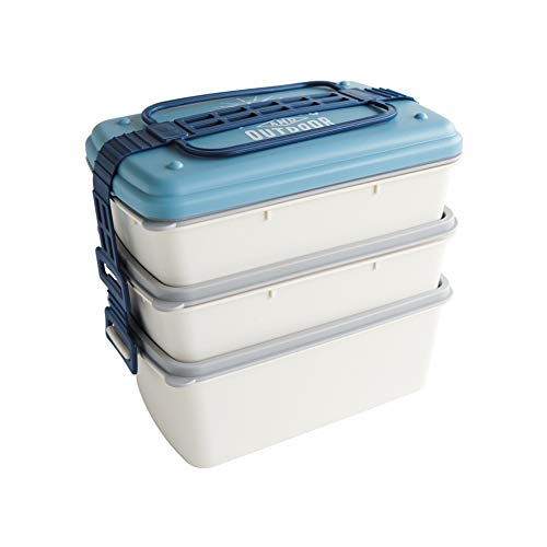 Yvonnelee Picknick-box, grote capaciteit, magnetron, rijst in de vrije natuur, lunchbox, party grill, lunchbox