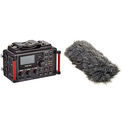 Tascam Dr-60Dmkii – Grabadora Estéreo Pcm Lineal para DSLR + Rode Deadcat Go - Funda Antiviento para Micrófono, Color Gris