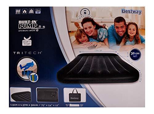 Bestway Doppel-Gästebett mit Pumpe Luftmatratze Campingbett selbstaufblasend Luftbett