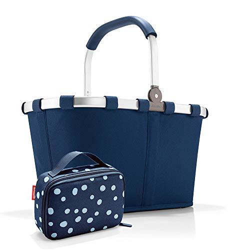 Set carrybag BK, thermocase OY, SBKOY Einkaufskorb mit Kleiner Kühltasche, Dark Blue + Spots Navy (40594044)