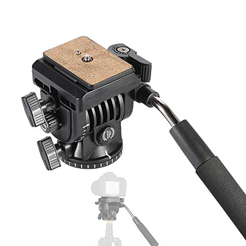 Pro Video Statief Fluid Head, Camera Action Drag Pan Head, met Schuifplaat 1/4