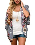 Zexxxy - Kimono de verano en gasa para mujeres, con mangas de 3/4, para la playa,...
