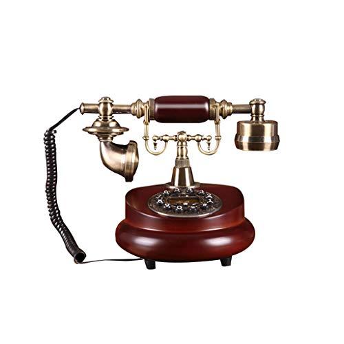 ZHJING Téléphone rétro en Bois Massif Bureau à Domicile Mode créative (Couleur : Un Style)