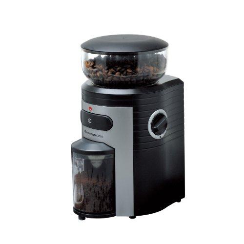 ESPRESSIONE Professional konische Grat Kaffeemühle, schwarz/silber