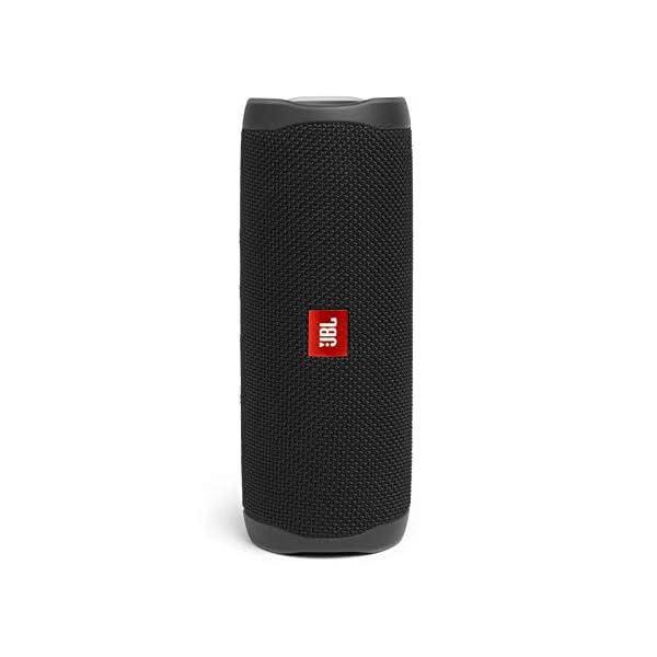 jbl flip 5 waterproof portable wireless bluetooth speaker bundle with divvi! protective hardshell case – black