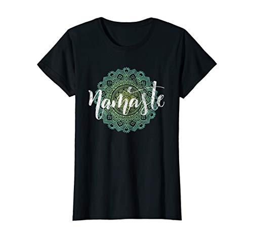 Damen Yoga Namaste Hatha Yoga-Flow Mandala Lotusblume Karma Frauen T-Shirt