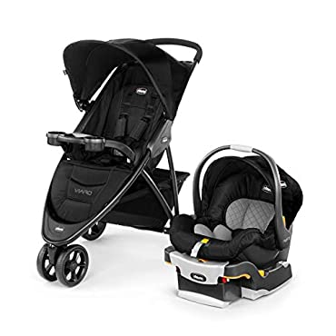Chicco Viaro Travel System with Stroller and Car Seat, Black, 06079639950070