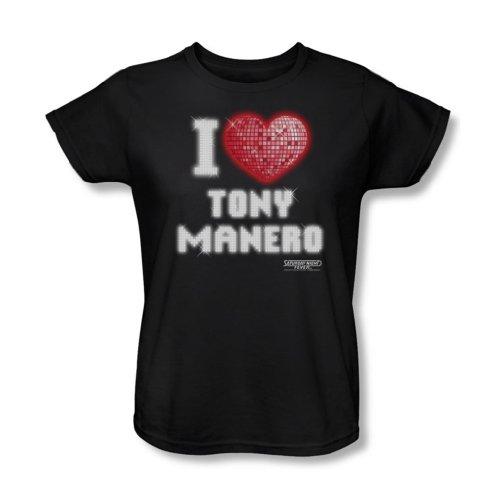 Saturday Night Fever-I Heart Tony-Maglietta, colore: nero nero X-Large