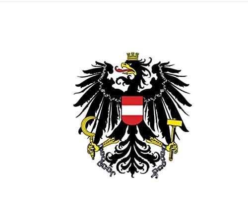 MDGCYDR Adesivi Auto Divertenti 9,6 Cm * 10,2 Cm personalità Divertente Bandiera Austriaca Stemma Adesivo per Auto Decalcomania