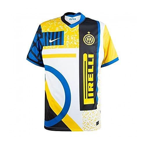 Camiseta del Inter Stadium 4th con logotipo 2020-21 blanco L
