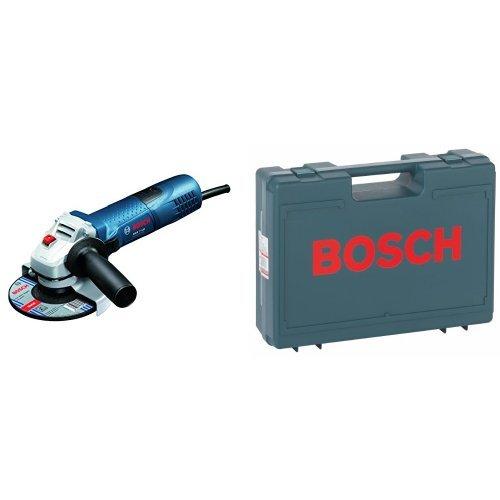 Bosch Professional GWS 7-125 - Amoladora angular, diámetro de disco 125 mm, en caja de cartón, 720 W, 240 V & 2 605 438 404 - Maletín de transporte de 380 x 300 x 115 mm, color azul