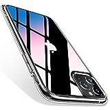 TORRAS iPhone 11 Pro用 ケース 9Hガラス背面+TPUバンパー 高透明 日本旭硝子製 滑り止め 黄変/指紋防止 耐衝撃 三層構造 ストラップホール付き アイフォン 11 Pro (5.8インチ)用 ガラスカバー (クリスタル・クリア)[ Fancy Series]