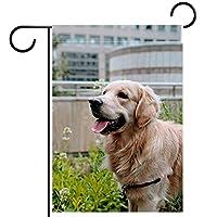 ガーデンフラッグ縦型両面 12x18in 庭の屋外装飾.犬の動物の子犬