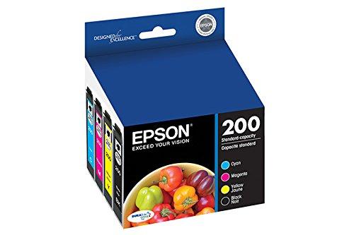 Epson DURABrite Ultra 200 Original Ink Cartridge Combo Pack Cyan, Magenta, Yellow, Black Model T200120-BCS